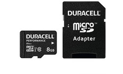 Duracell Performance MicroSDHC UHS-I 8GB + Adapter