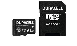 Duracell Performance MicroSDXC UHS-I 64GB kit + Adapter