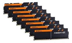 G.Skill Trident Z Black/Orange 64GB DDR4-3200 CL16 octo kit