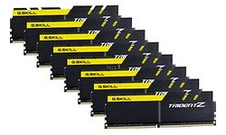 G.Skill Trident Z Black/Yellow 64GB DDR4-3200 CL16 octo kit