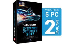 Bitdefender Internet Security 2017 Base 5-users 1-year (NL)