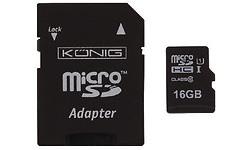König MicroSDHC UHS-I 16GB + Adapter