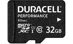 Duracell Performance MicroSDHC UHS-I 32GB + Adapter