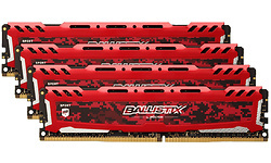 Crucial Ballistix Sport LT Red 32GB DDR4-2666 CL16 DR quad kit