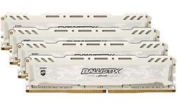 Crucial Ballistix Sport LT White 32GB DDR4-2666 CL16 DR quad kit