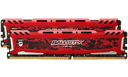 Crucial Ballistix Sport LT Red 16GB DDR4-2666 CL16 SR x8 kit