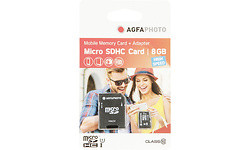 AgfaPhoto Mobile High Speed 8GB MicroSDHC Class 10 8GB + Adapter