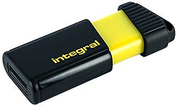 Integral Memory Pulse 64GB Black/ Yellow
