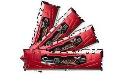 G.Skill Flare X Red 32GB DDR4-2400 CL16 quad kit