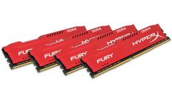 Kingston Hyper X Fury Red 32GB DDR4-2133 CL14 quad kit