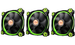 Thermaltake Riing 120mm LED 3-Fan Pack Green