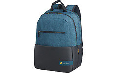 "American Tourister City Drift Backpack 15.6"" Black/Blue"