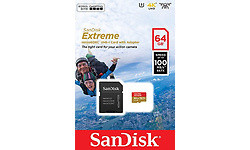 Sandisk Extreme MicroSDXC UHS-I 64GB + Adapter