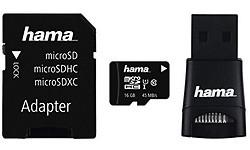 Hama MicroSDHC UHS-I 16GB + Adapter/Reader