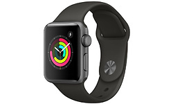 Apple Watch Series 3 38mm Aluminium Space Grey + Grey Sport Band