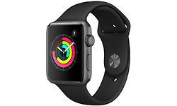 Apple Watch Series 3 42mm Aluminium Space Grey + Black Sport Band