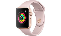 Apple Watch Series 3 42mm Aluminium Gold + Pink Sport Band