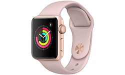 Apple Watch Series 3 38mm Aluminium Gold + Pink Sport Band