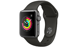 Apple Watch Series 3 38mm Aluminium Grey + Black Sport Band