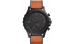 Fossil Q Nate Hybrid Black/Dark Brown