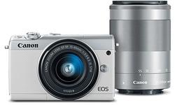 Canon Eos M100 15-45 + 55-200 kit White