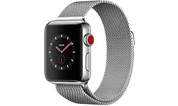 Apple Watch Series 3 38mm Stainless Steel Silver + Sport Loop Milanese Silver