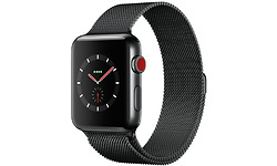 Apple Watch Series 3 42mm Stainless Steel Black + Sport Loop Milanese Black