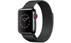 Apple Watch Series 3 38mm Stainless Steel Black + Sport Loop Milanese Black