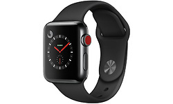 Apple Watch Series 3 38mm Stainless Steel Black + Sport Loop Black