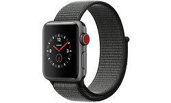 Apple Watch Series 3 38mm Aluminuim Space Grey + Sport Loop Dark Olive