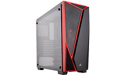 Corsair Carbide Window Black/Red