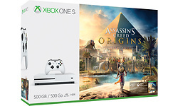 Microsoft Xbox One S 500GB White + Assassins's Creed Origins