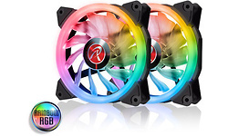Raijintek Iris 12 Rainbow RGB 120mm 2-pack + Controller
