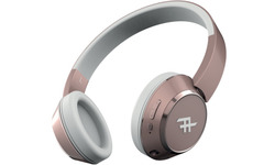 iFrogz Coda Wireless Bluetooth Headphone with Built-In Microphone Rose Gold