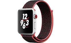 Apple Watch Series 3 Nike+ 42mm Aluminium Silver Sport Loop Black/Red