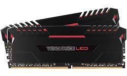 Corsair Vengeance Red LED Black 32GB DDR4-3000 CL16-18-18-36 kit