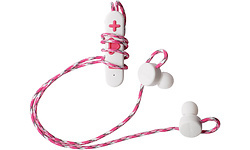 Boompods Retrobuds In-Ear White/Pink