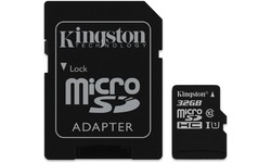 Kingston Canvas Select MicroSDHC UHS-I 32GB + Adapter