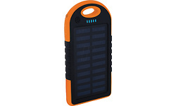 XLayer Powerbank Plus Solar 4000 Black/Orange