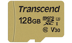 Transcend MicroSDXC UHS-I U3 128GB + Adapter Gold