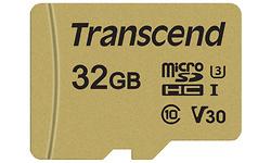 Transcend MicroSDHC UHS-I U3 32GB + Adapter Gold
