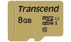 Transcend MicroSDHC UHS-I U3 8GB + Adapter Gold