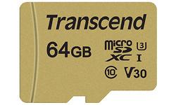 Transcend MicroSDXC UHS-I U3 64GB + Adapter Gold