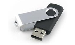 MicroMemory Swivel USB 2.0 4GB Black