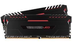 Corsair Vengeance Red LED Black 16GB DDR4-3000 CL16 kit