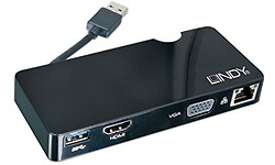Lindy USB 3.0 Notebook Docking Station HDMI/VGA/Ethernet