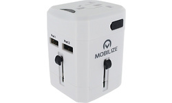 Mobilize International Travel Adapter incl. 2-Port USB 6.0A White