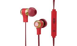 Tribe Marvel Stereo In-Ear Earphones Gold/Red