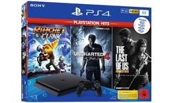 Sony PlayStation 4 1TB Black + The Last of Us Remastered + Uncharted 4 + Ratchet & Clank