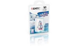 Emtec Miss Penguin 16GB White/Blue/Purple